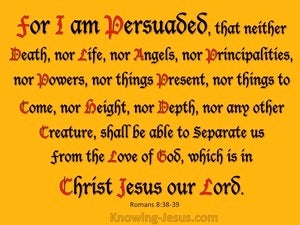 Romans 8 38-39 Nothing Can Separate Us From The Love Of God orange