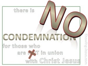 Romans 8:1 No Condemnation In Christ Jesus (white)