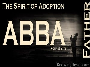 Romans 8:15 The Spirt of Adoption black