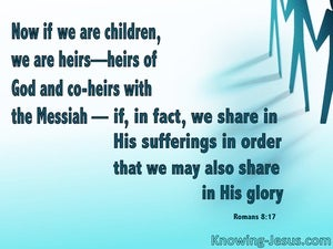 Romans 8:17 Heirs Of God And Joint Heirs With Christ blue