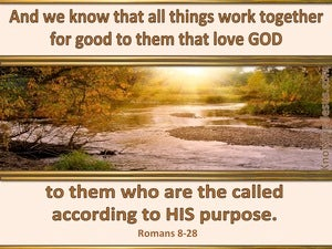 Romans 8:28 All Things Work Together For Good beige