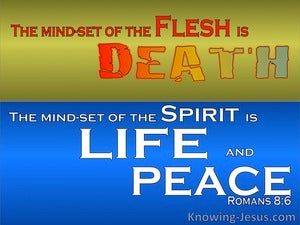 Romans 8:6 The Mindset Of The Flesh And Spirit blue