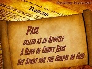 Romans 1:1 Paul, A Bond:servant Of Christ Jesus, Called As An Apostle, (brown)