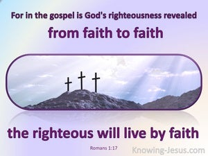 Romans 1:17 God's Righteousness Revealed (purple)