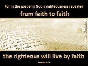 Romans 1:17 God's Righteousness Revealed (beige)