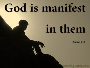 Romans 1:19 God Is Manifest In Them (brown)