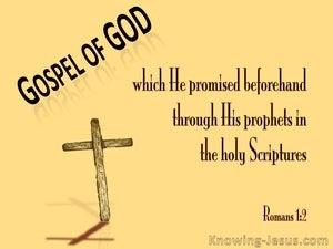 Romans 1:2 The Gospel Written Aforetime (yellow)
