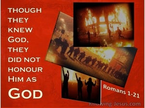 Romans 1:21 They Did Not Honour God Or Give Thanks (beige)