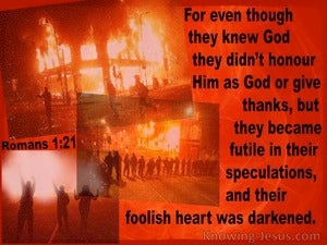 Romans 1:21 They Did Not Honour God Or Give Thanks (red)