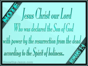 Romans 1:4 Resurrected Son Of God (green)
