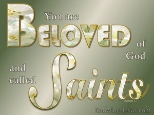 Romans 1:7 Beloved Of God And Saints (green)