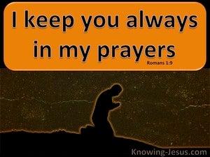 Romans 1:9 I Keep You Always In My Prayers (orange)