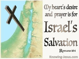 Romans 10:1 My Heart's Desire And Prayer For Israel Is Their Salvation (brown)