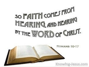 Romans 10:17 Faith Come From Hearing (white)