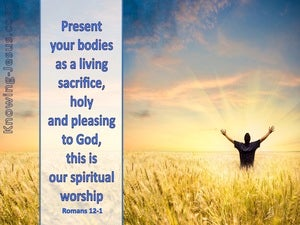Romans 12:1 Present Your Bodies As A Living Sacrifice (gold)