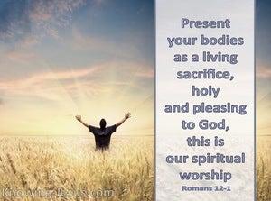 Romans 12:1 Present You Bodies As A Living Sacrifice (gray)