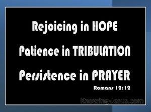 Romans 12:12 Rejoice in Hope (black)