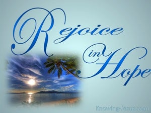 Romans 12:12 Rejoice In Hope (aqua)
