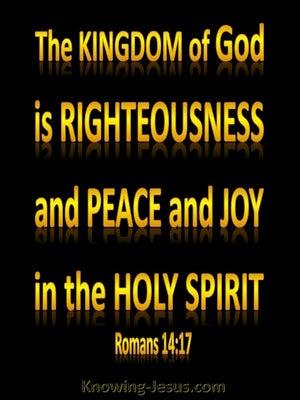 Romans 14:17 The Kingdom Of God (yellow)