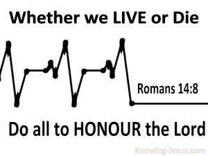 Romans 14:8 Live and Die to the Lord (black)