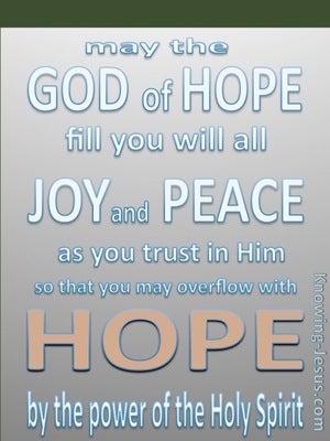 Romans 15:13 God Of Hope (pink)
