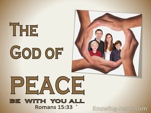 Romans 15:33 May The God Of Peace Be With You (beige)