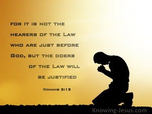 Romans 2:13 Not Hearers But Doers Of The Word (beige)