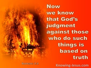 Romans 2:2 The Judgment Of God (orange)