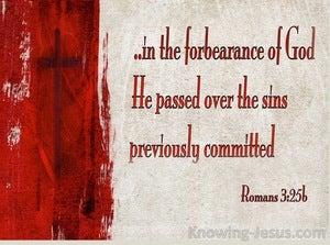Romans 3:25 God Displayed Publicly As A Propitiation In His Blood Through Faith (beige)