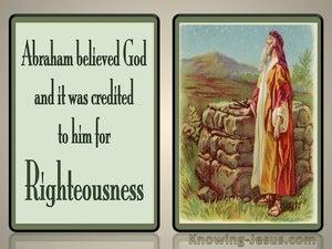 Romans 4:3 Abraham Believed God (green)