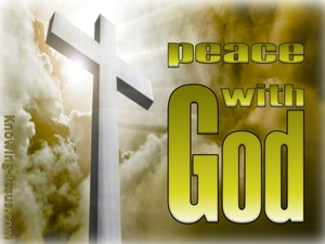 Romans 5:1 Peace With God (sage)