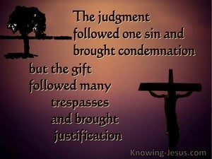 Romans 5:16 The Judgment Followed One Sin (brown)