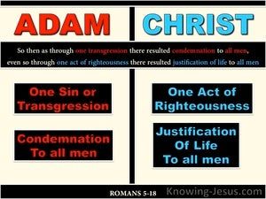 Romans 5:18 One Transgression One Act Of Righteousness (beige)