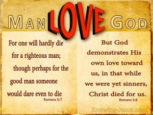 Romans 5:7 One Will Hardly Die For A Righteous Man (yellow)