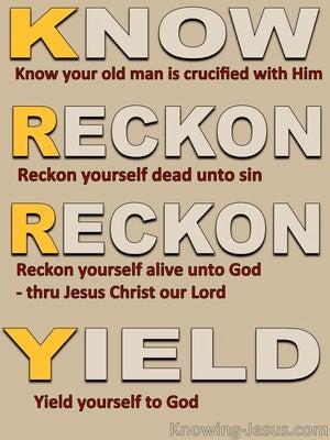K.R.R.Y For Faith (devotional) (beige) - Romans 6:6