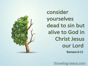 Romans 6:11 Dead To Self And Alive To God (green)