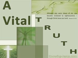 A Vital Truth (devotional) (sage) - Romans 6:17