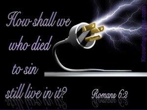 Romans 6:2 We Died To Sin (black)