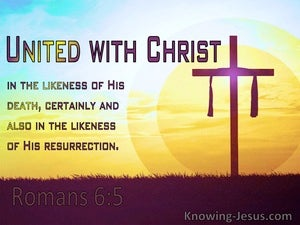 Romans 6:5 United With Christ In The Likenss Of His Death (yellow)