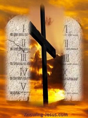 Romans 6:7 Grace and Law (orange)