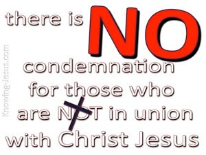 Romans 8:1 No Condemnation In Christ Jesus (red)