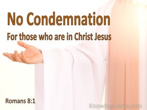 Romans 8:1 There Is No Condemnation In Christ Jesus (white)