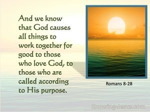 Romans 8:28 All Things Work Together For Good (green)