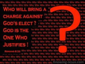 Romans 8:33 Who WIll Bring A Charge Against You (red)