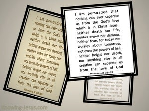 Romans 8:38,39 I Am Persuaded Nothing Can Separate Us From The Love Of God (beige)