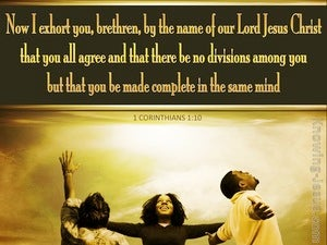 1 Corinthians 1:10 Let There Be No Division Among You gold