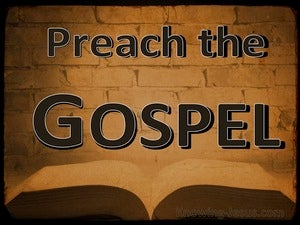1 Corinthians 1:17 Preach The Gospel brown