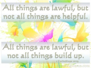 1 Corinthians 10:23 All Things Are Lawful yellow