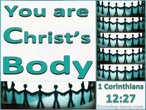 1 Corinthians 12:27 You Are Christ's Body (aqua)