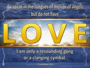 1 Corinthians 13:1 If I Speak With The Tongues of Men blue
